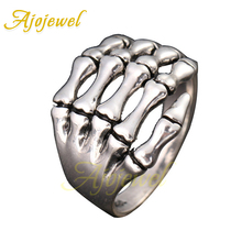 Ajojewel Size 8&9 Punk Skeleton Bone Ring For Man Rings Women Jewelry