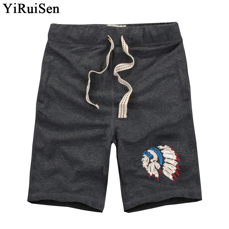 YiRuiSen Märke TOP Quality Mäns Board Shorts 3XL 100% Cotton Casual Shorts Män 2018 Summer Short Pants Bermuda Masculina