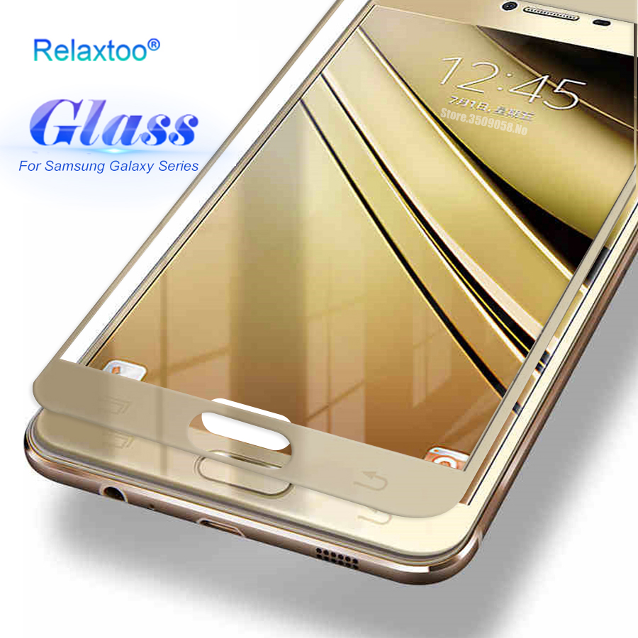 Screen Protector Tempered Glass Case for Samsung Galaxy A3 A5 A7 J3 J5 J7 2016 2017 A8 2018 S3 S4 S5 S6 S7 Note 4 5 Cover Film ...