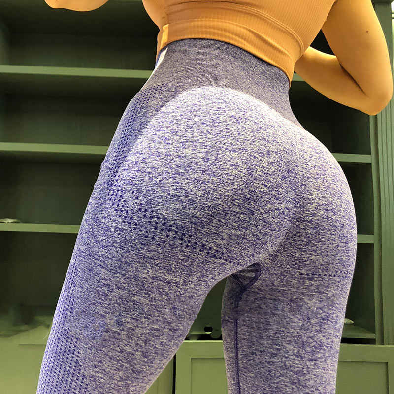 المرأة الزرقاء لفافة ساق غير مخيطة البطن التحكم اليوغا طماق عالية الخصر الغنيمة طماق الرياضة اللياقة البدنية الصالة الرياضية طماق الجوارب الرياضية