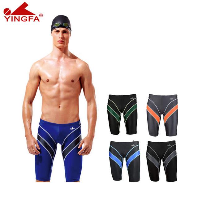 db77084081 Online Shop Yingfa 9402 FINA approval Sharkskin chlorine resistant men  training swimming trunks Jammers shorts men swimwear tight pants    Aliexpress Mobile