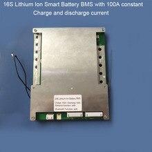 16 S 100A Akıllı EV lityum Pil PCB kartı Bluetooth Cep BMS için 67.2 V Li Ion 60 V Pil paketi iletişim UART