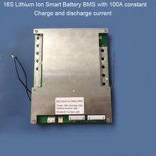 16S 100A Smart  EV lithium Battery PCB board Bluetooth Mobile BMS for  67.2V Li Ion  60V Battery pack with Communication UART