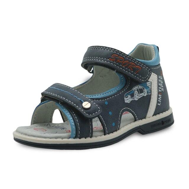 d92e2e4cf Apakowa бренд обувь для мальчиков Новый 2018 детские сандалии лето из  искусственной кожи без каблука детская