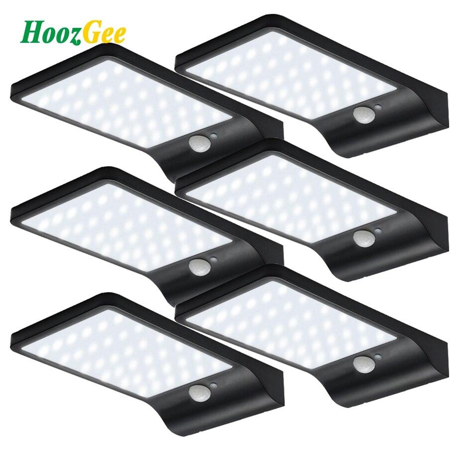 HoozGee Lampadaires Solaires En Plein Air 450LM 36 LED PIR Motion Sensor Lumière Jardin Lampe de Sécurité Imperméable À L'eau Mur D'éclairage