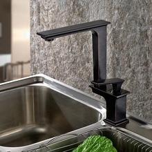 Поворот на 360 Градусов Носик меди Blackend кухонный кран горячей и холодной воды овощи раковина бассейна смеситель