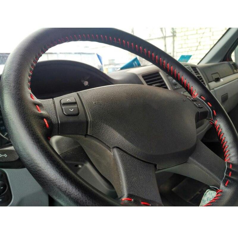 Trenza de cuero genuino cubierta del volante Automóvil trenzado - Accesorios de interior de coche - foto 5