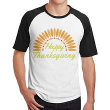 thanksgiving day turkey santa clause t shirts pattern man casual round neck 34 sleeve raglan - Thanksgiving China Patterns
