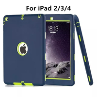 Zimoon Case For Apple IPad 2 3 4 Retina Kids Safe Armor Shockproof Heavy Duty Silicone