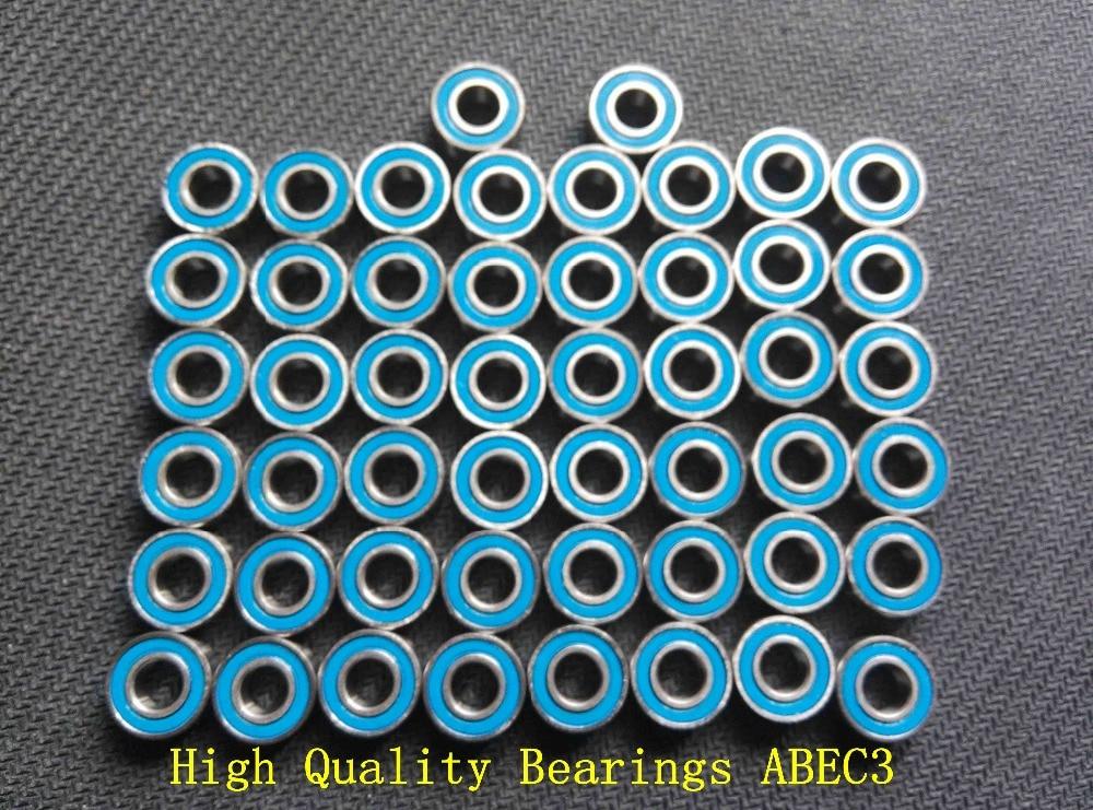 Orange 5x10x4mm Double Metal Rubber Sealed Ball Bearing 25PCS MR105RS