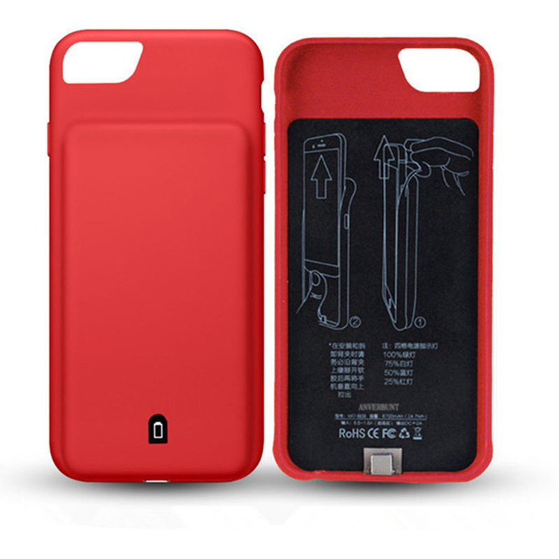 imágenes para 4500/7000 mAh Cargador de Batería Externa Para el iphone 7 Más 6 Más 6 S Más Banco de Energía de Respaldo Portátil Recargable casos