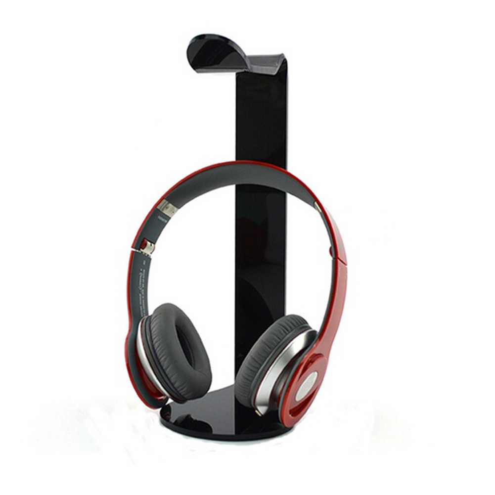 Baru Universal Akrilik Headphone Display Stand Earphone Pemegang Portable Headset Bracket Headphone Aksesoris