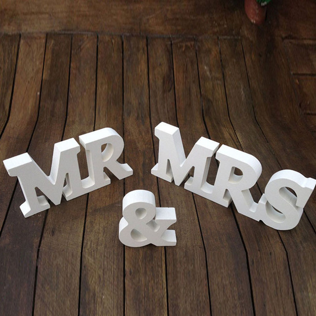 Mr Mrs Signs For Wedding Decoration Table White And Letters Wooden Supplier