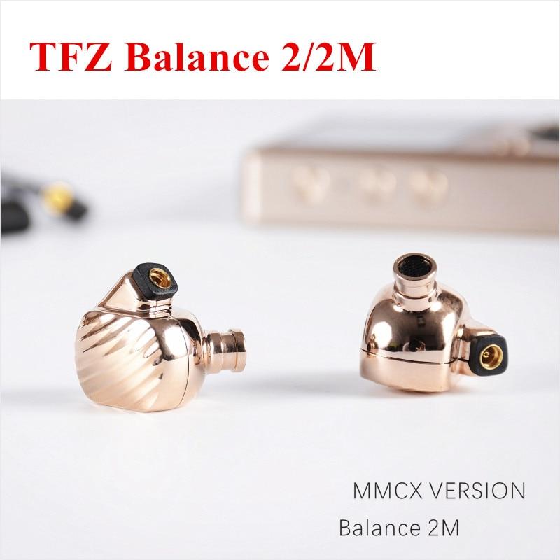 Latest TFZ Balance 2M HIFI Stereo Earphone Earbuds Dual Dynamic Metal Headphone DJ Monitor Headset + MMCX Hifi Cable