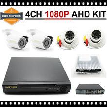 HKES  4CH CCTV System 1080P HDMI AHD Kamepa 1080N CCTV DVR 4PCS 2.zero MP IR Out of doors Indoor Safety Digital camera Surveillance System