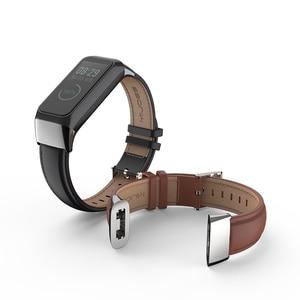 Image 2 - Milanese Strap for Amazfit Cor 2 pulseira Smart Band Leather Wrist Strap Bracelet for Xiaomi Huami Amazfit Cor 2 Wriststrap