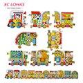60 шт. в комплекте, 1.2 м, разноцветная мозаика Поезд, пазлы для детей дошкольного возраста Поезд, детская головоломка с алфавитом и цифрами, обучающая и развивающая игрушка