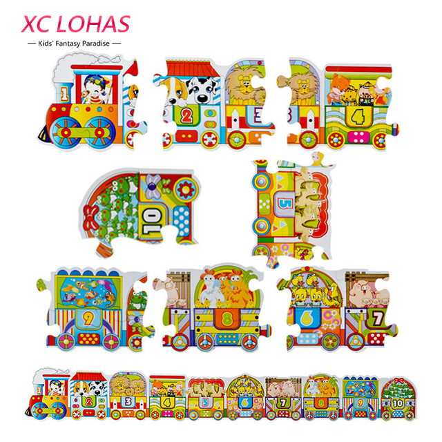 60pcs/set 1.2M Multicolor Train Jigsaw Puzzle Toy Set Kids Alphabet Numeric Puzzle Toy Learning Educational Toys for Children