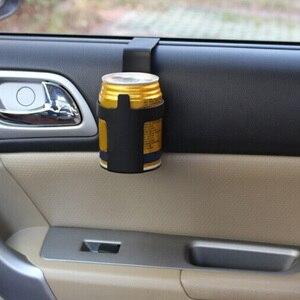 Image 1 - 1 個黒車のカップホルダードリンクボトルホルダースタンド容器フック車のトラックインテリア、窓ダッシュマウント