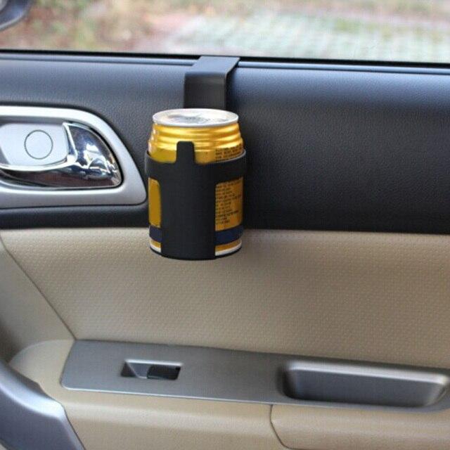 1 個黒車のカップホルダードリンクボトルホルダースタンド容器フック車のトラックインテリア、窓ダッシュマウント