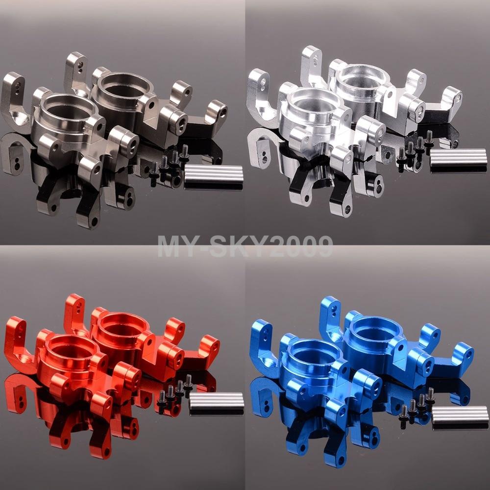 2pcs Upgrade Parts Aluminum Steering blocks 7737 For 1/5 RC Traxxas X-Maxx 77076-4; 77086-4 a arm for traxxas x maxx 1 5