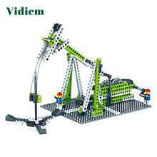Vidiem Building Blocks Toys For Kids Mechanical Engineering Gear Set Early Educational Gift Compatible Legoing Friends Bricks(China)