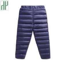 HH Enfants pantalon 90% blanc duvet de canard filles pantalons chauds vêtements vers le bas enfants bébé leggings enfants casual vêtements garçons d'hiver pantalon