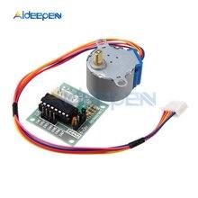 1 комплект 5 в 12 В 28BYJ-48 4 фазы DC редукторный шаговый двигатель модуль+ ULN2003 драйвер платы для Arduino DIY Kit