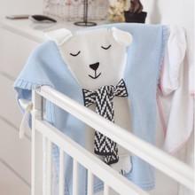 купить White Bear Blanket 3D Ear Blanket Children's Baby Knitted Air Conditioning Baby Newborn Blanket Photography Child Bedroom Rug онлайн