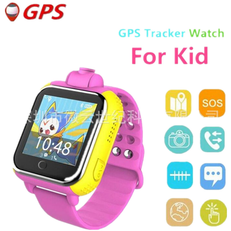 Russian Language Smart Watch Kids Wristwatch GPS Locator Tracker Anti-Lost Smartwatch Baby Children Watch With Camera Clock F1 smart baby watch g72 умные детские часы с gps розовые