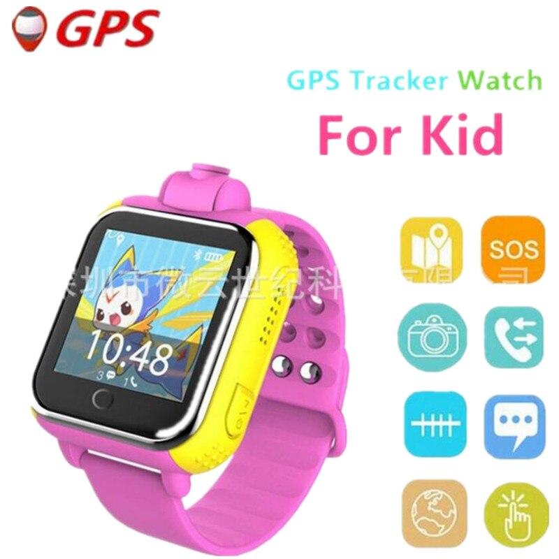 Russian Language Smart Watch Kids Wristwatch GPS Locator Tracker Anti Lost Smartwatch Baby Children Watch With Camera Clock F1