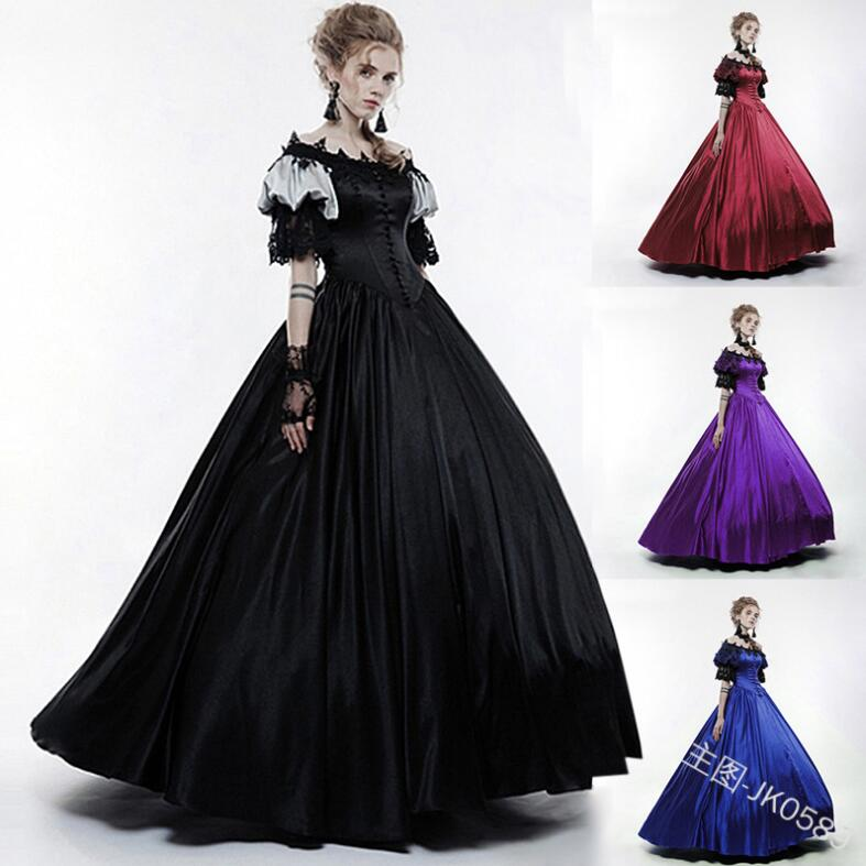 Robe lolita médiévale col rond rétro gothique lolita dentelle palace kawaii robe victorienne kawaii fille douce lolita vestido loli op