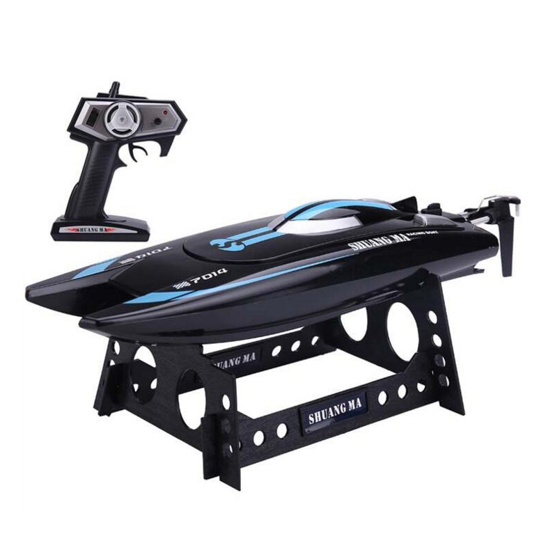 Double Horse DH7014 Radio Control 2.4GHZ 4CH Speed RC Boat High Performance Waterproof SpeedBoat with Display Rack RTR