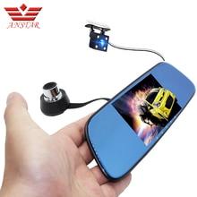 ANSTAR 5″ Car DVR Camera Dual Lens Rearview Mirror Video Recorder FHD 1080P Automobile DVR Mirror Dash cam night vision