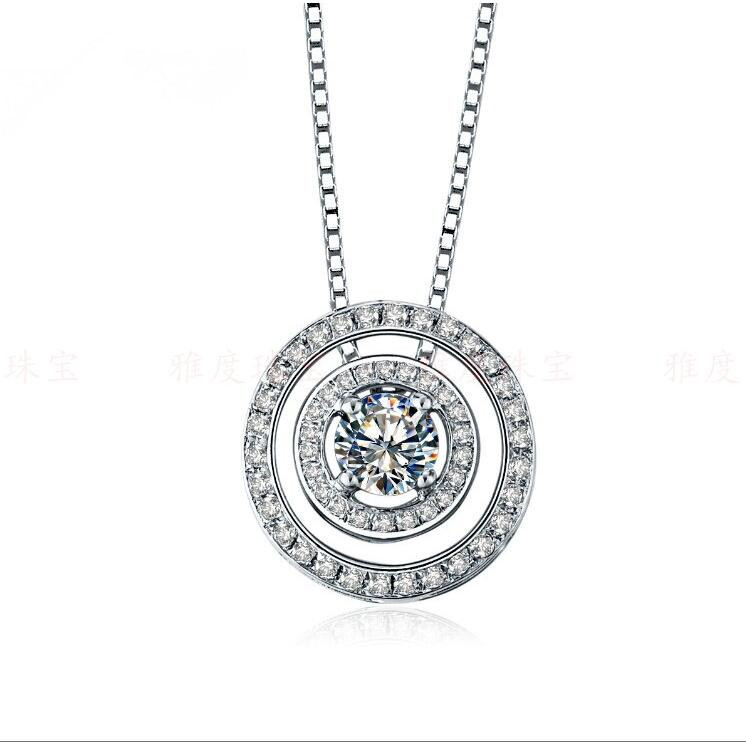Free necklace amazing 05ct round cut synthetic diamonds bridal free necklace amazing 05ct round cut synthetic diamonds bridal pendant neclace 925 sterling silver white gold color pendant in pendants from jewelry aloadofball Choice Image