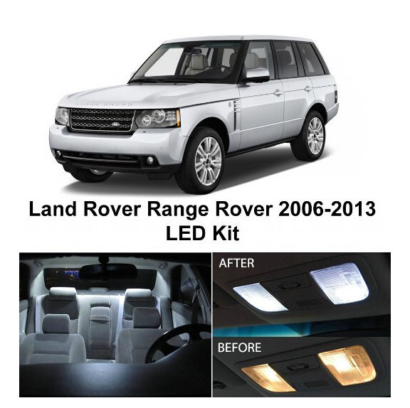 Free Shipping 21Pcs/Lot car-styling Xenon White Package Kit LED Interior Lights For Land Rover Range Rover Sport 2006-2013