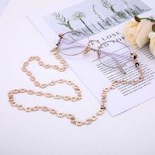 Dawapara 2019 New Rose Gold Glass Chain For Women Jewelry Fashion Glasses Chain In Women's