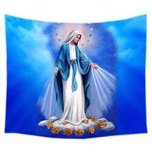 Гобелен Девы Марии, настенное покрывало на заказ, покрывало для спальни, покрытие для дома, настенное искусство, ковер для комнаты