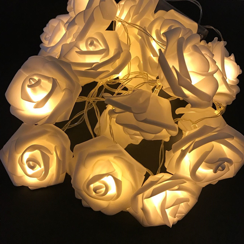 Ny 2M 20 Rose Batteri LED String Light Christmas / Bröllop / Party - Festlig belysning - Foto 2