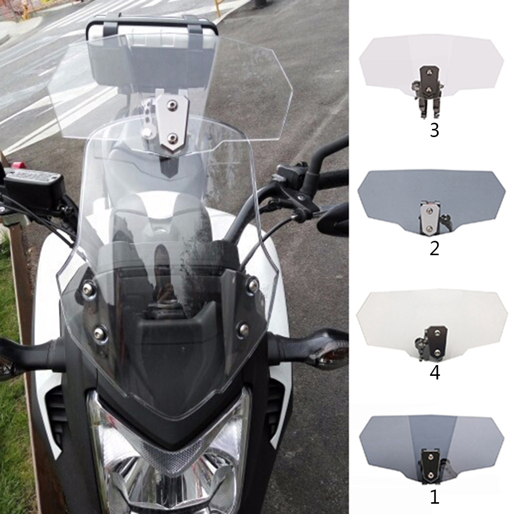 Adjustable Airflow Windscreen Wind Deflector Windshield Motorcycle Parts For Triumph Suzuki Yamaha Honda
