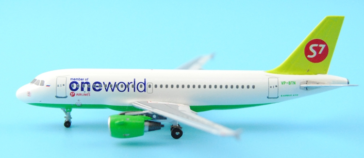 Fine Aerocla sics 1: 400 Siberian Airlines S7 A319 VP-BTN Oneworld Alloy aircraft model Collection model Holiday gifts ph 1 400 lufthansa german airlines airbus a380 alloy aircraft model d aimn