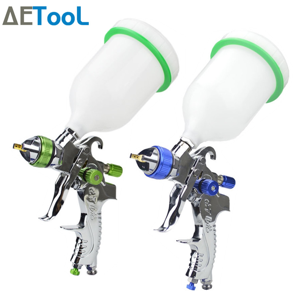 AETool Professional 1.4mm Nozzle Automotive Aerosol Paint Hvlp Spray Paint Gun For Painting Cars Sprayer Airbrush Pneumatic Guns