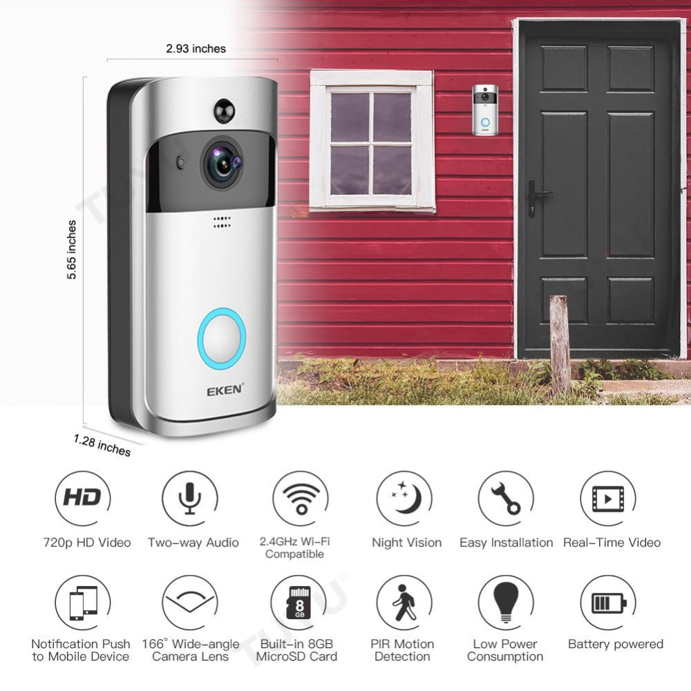 EKEN Smart Video Doorbell 2 în timp real 720P HD Video Wifi aparat - Camera și fotografia - Fotografie 2