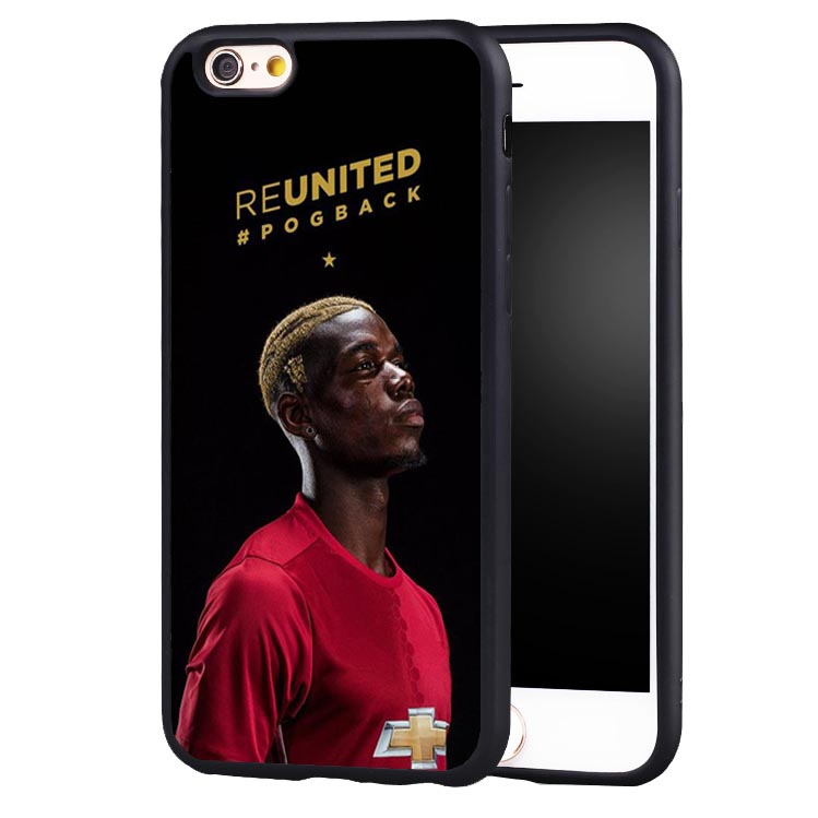 Coque Paul Pogba Hip Hop Football Soccer Soft Silicone Full Protective case Cover For iPhone X 8 7 7Plus 6 6S Plus 5 5S SE