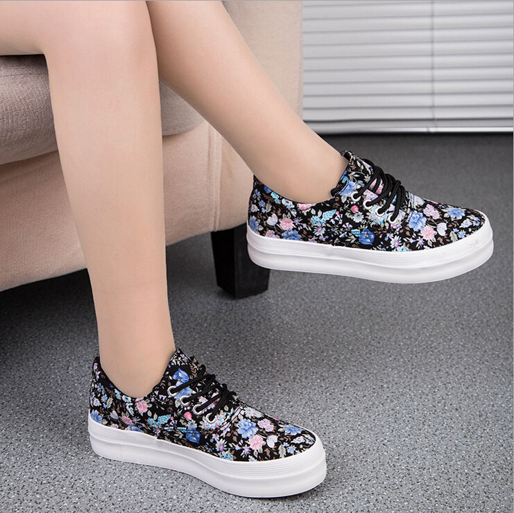 Aliexpress.com : Buy 2014 Nice Women Casual Shoes Lace Up Flower ...