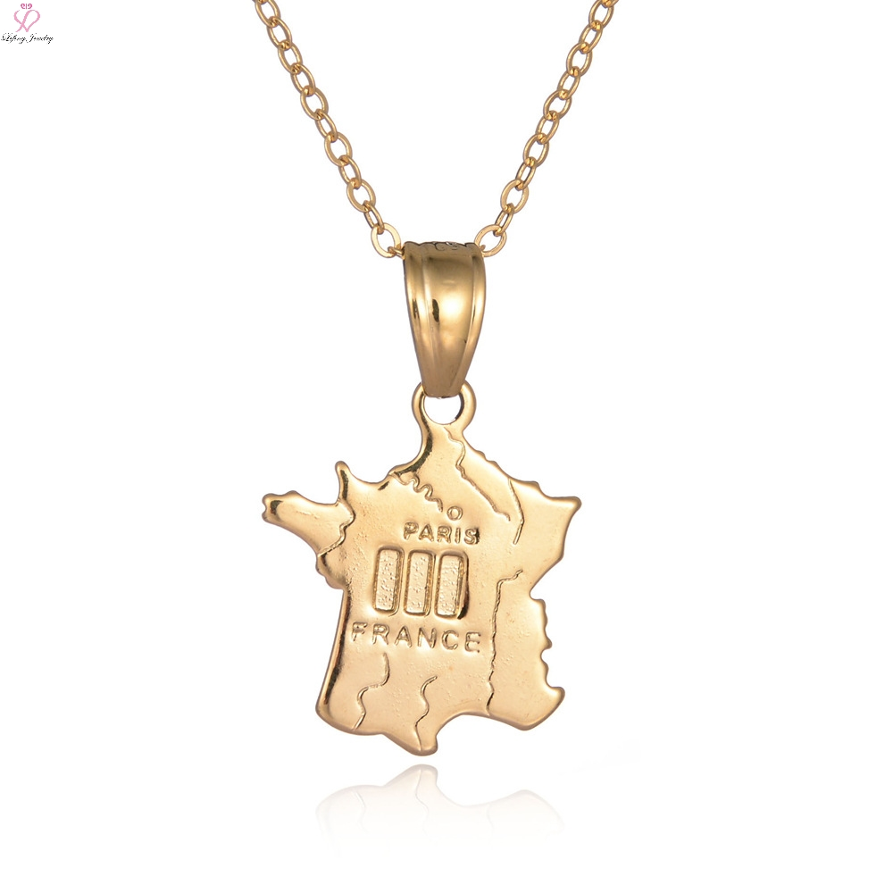 Online Buy Wholesale Belgium Map From China Belgium Map - Chicago map necklace