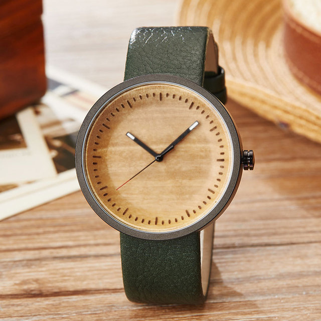 Wood Watch Ladies Simple Design Small Bracelet Natural Wooden Wrist Watch Women Genuine Leather Unisex Quartz Minimalist Watch 1