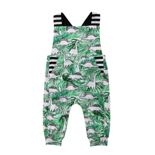 Dinosaur Newborn Baby Boys Girls   Romper   Jumpsuit Sleeveless Overall Cotton Outfits Clothes Cute Casual Baby Boy 6M-3T