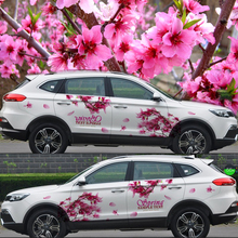 Japanese Cherry blossoms Car Decoration Stickers Drift sticker Universal 3D Decals Camouflage Vinyl Door