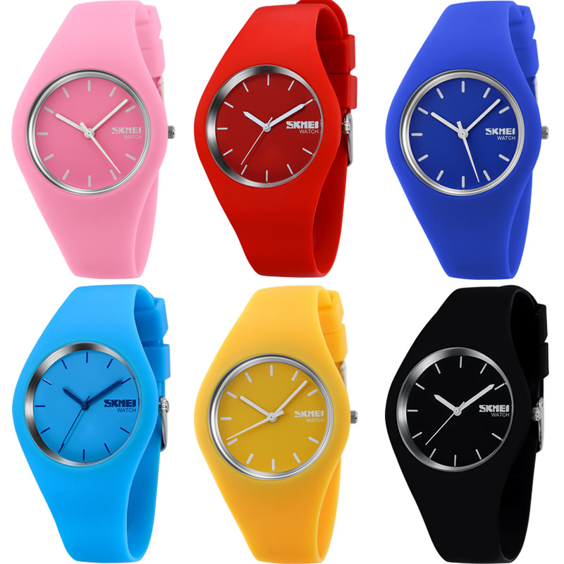 Orange Silicone Quartz women Watch Sport Wristwatches Simple Men ladies Watches fashion casual clock hot sale new watch gift new 2017 low price new vintage wood grain watches for men women fashion quartz watch faux leather unisex casual wristwatches gift
